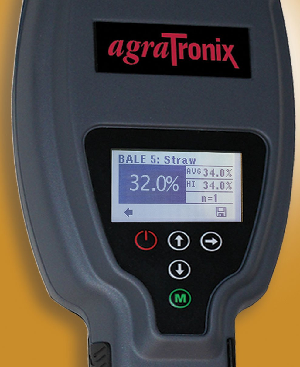 Agratronix Advanced Hay Straw And Silage Moisture Tester With Durable 20'' Probe
