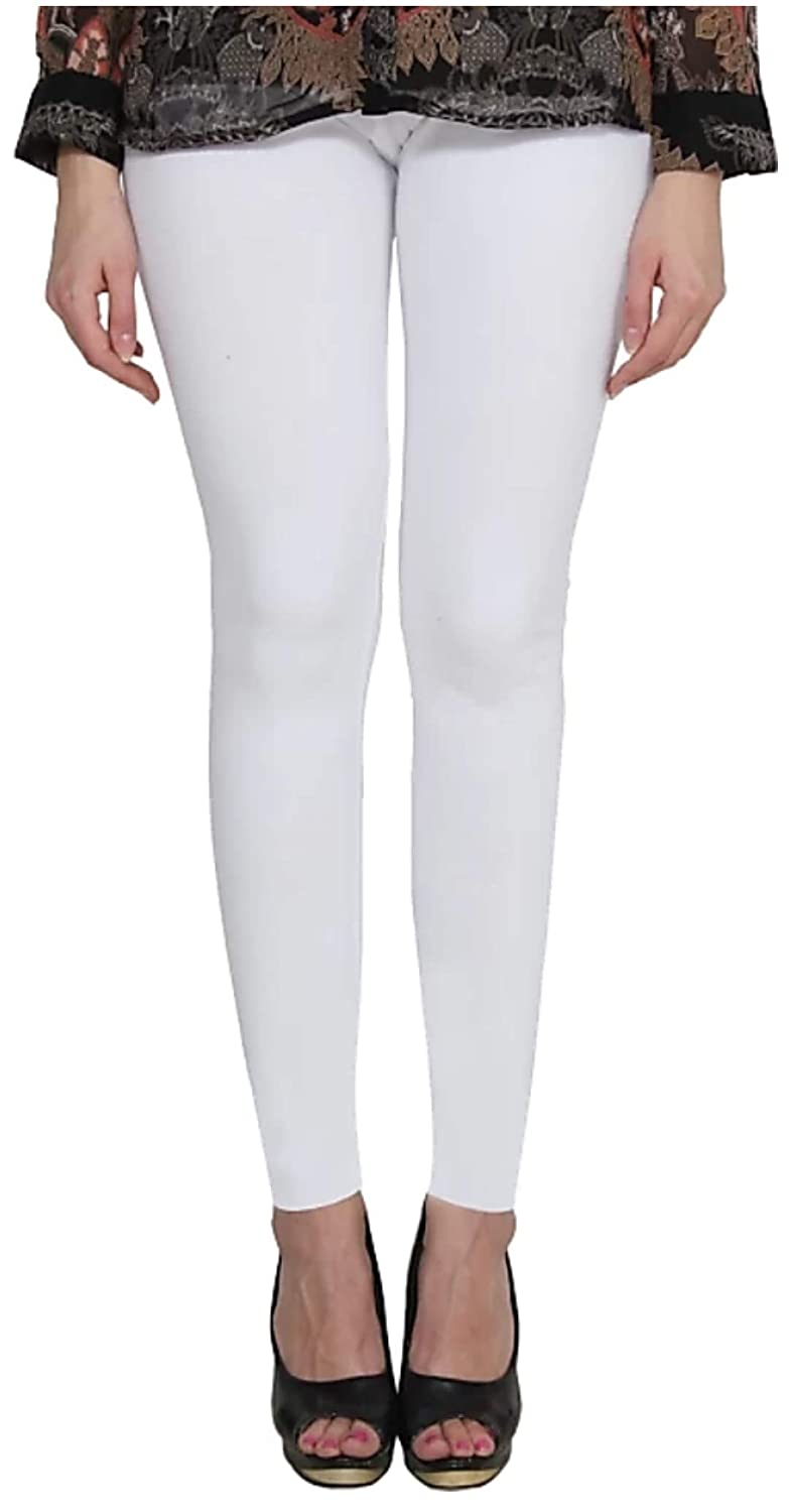 Buy A S Creation Attractive Women S Cotton Solid Chudidar Leggings White Xl At Amazon In