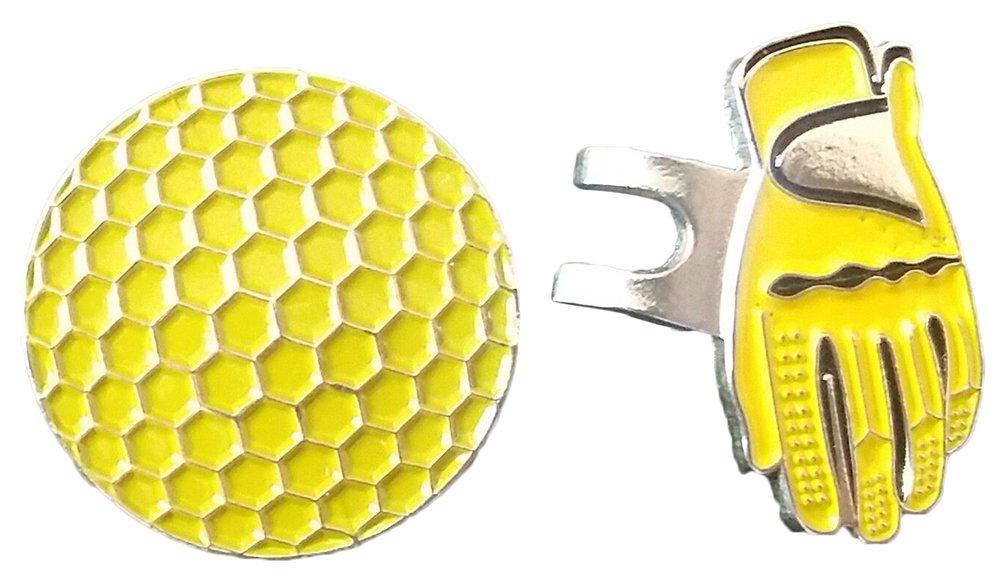 Gracefulvara 磁気 ハット キャップ クリップ 取り外し可能 金属ゴルフボール マーカー セット   B071Y4VSH5