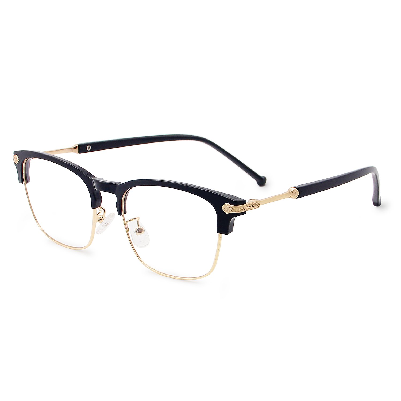 edfc1d89f4 Galulas Blue Light Blocking Glasses for Men Women Eye Protection Computer  Reading Gaming Optical Eyewear Non Prescription Clear Lens Vintage Frame ...