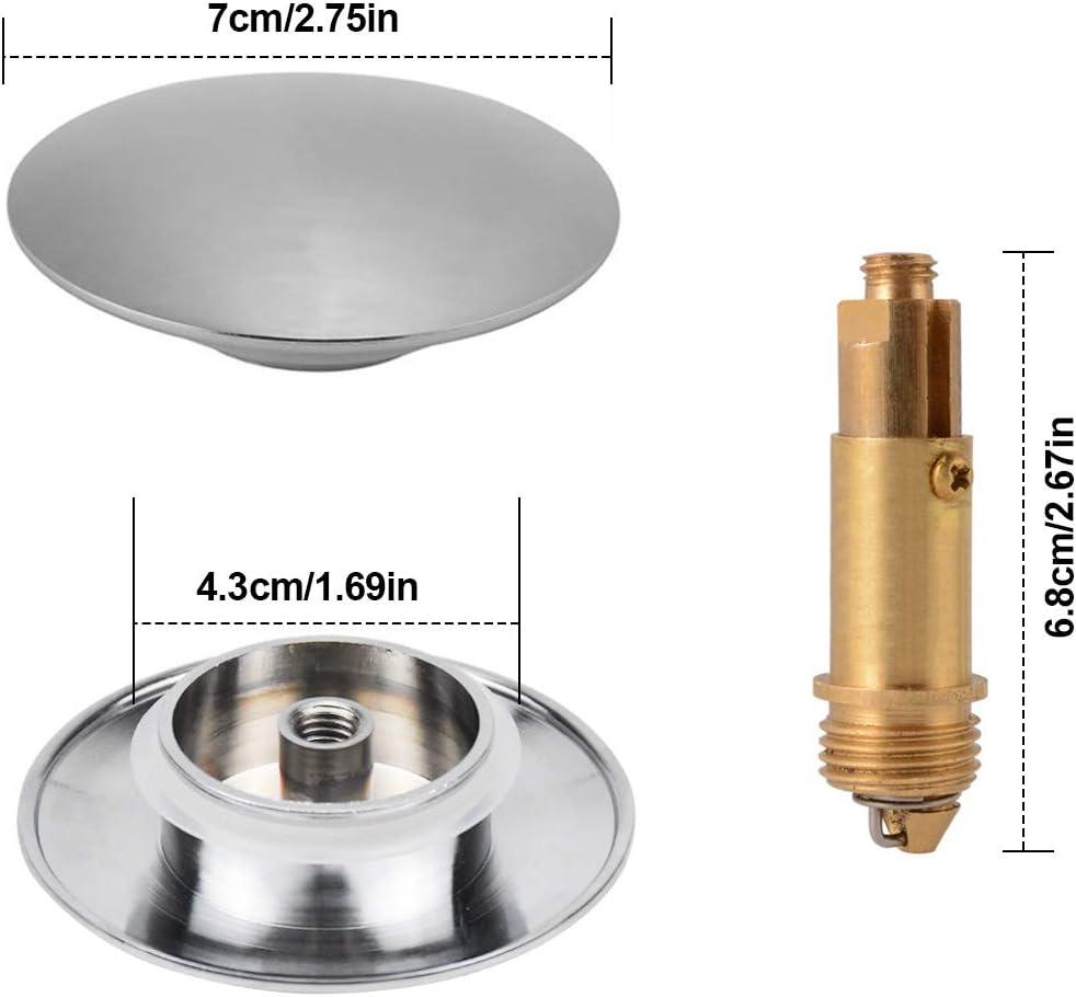 bouton poussoir avec ressort /à boulon en laiton 70 mm Bouchon de vidange pour lavabo de salle de bain lavabo chrom/é pour lavabo de salle de bain