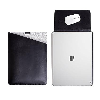 amazon com walnew microsoft surface book sleeve dual pocket for 15