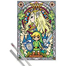 Poster + Hanger: The Legend Of Zelda Poster (36x24 inches) Link And 1 Set Of Transparent 1art1® Poster Hangers