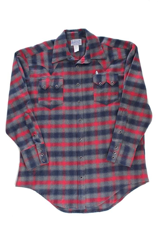 Rockmount Plaid Flannel Western Shirt Red / Grey 649-REDGRY-Red-XL