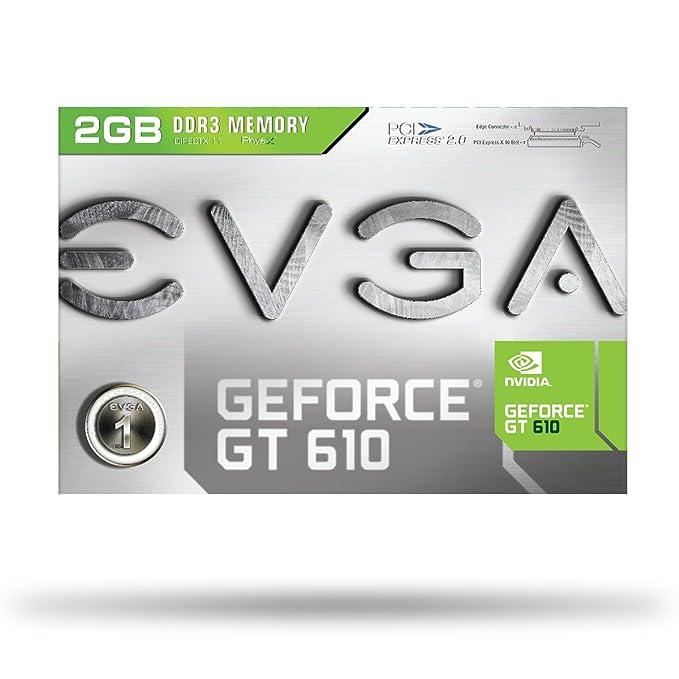 EVGA GF GT 610 - Tarjeta gráfica DDR3 (2 GB)