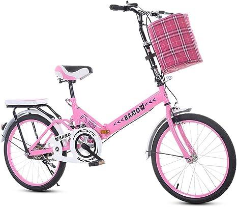 ZTIANR Bicicletas Plegables, 20 Pulgadas para Adultos Marco De ...