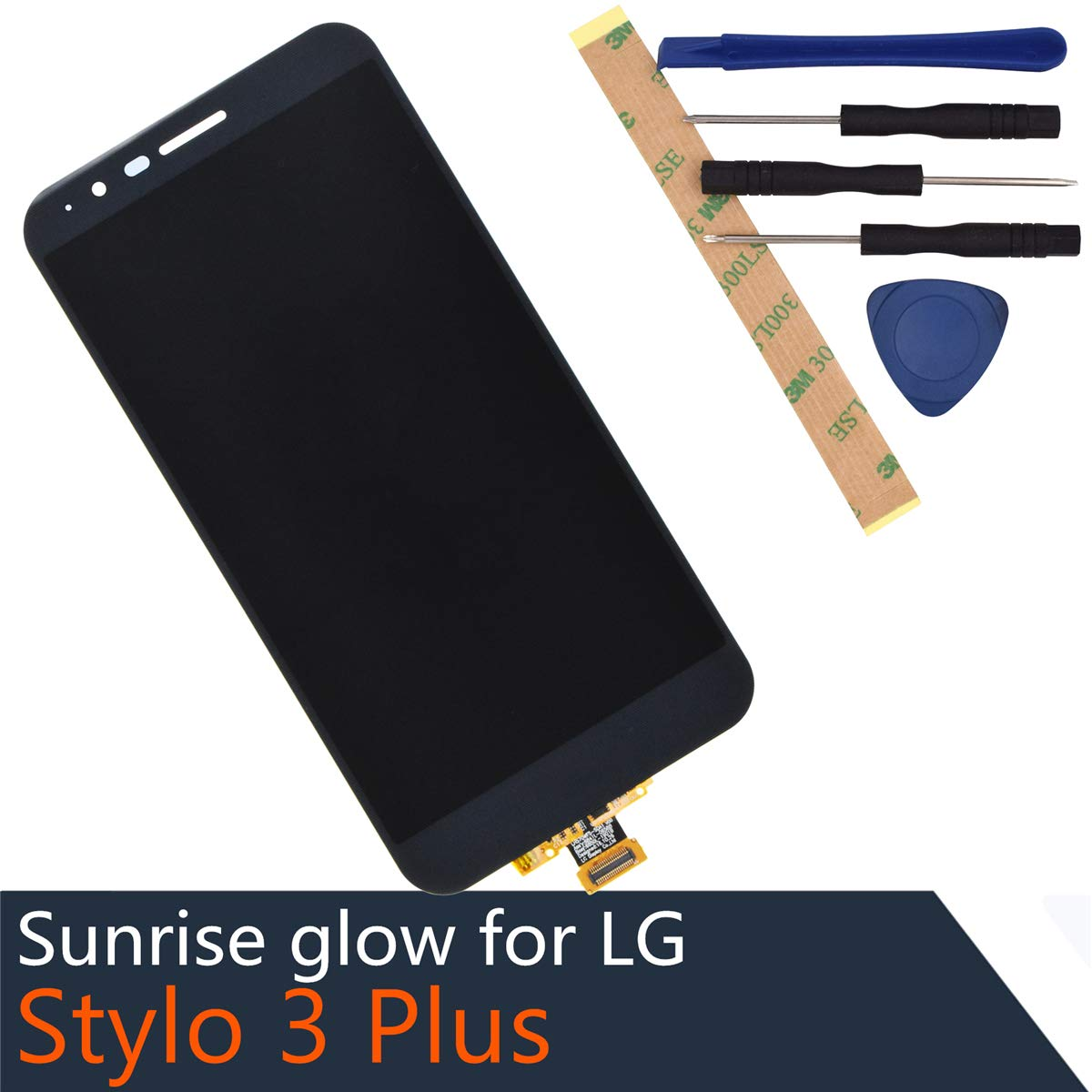 Full LCD Display Touch Screen Digitizer Assembly Replacement for LG Stylo 3 Plus with Frame Adhesive [ Without Frame ]