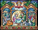Stained Glass Nativity Advent Calenda...