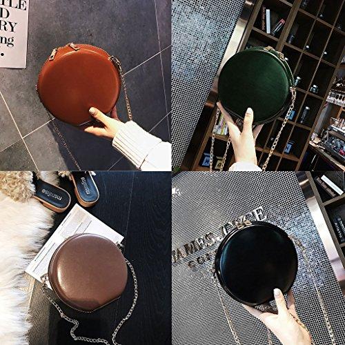 a Dabixx brown borsetta 6 donne moda tracolla 76x6 rotonda 69x2 travel Crossbody borsa messenger Coffee 69 Nero catena 17x7x17cm zr0rPqfSw