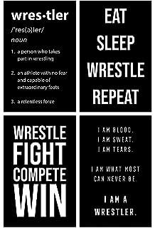 Amazon.com: Damdekoli Motivational Wrestling Quote Poster ...