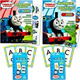 Thomas the Train Flash Cards and Workbook Super Set Toddler Kids -- 2 Workbooks (Alphabet and Numbers), ABC Flash Cards, Numbers Flash Cards, Reward Stickers