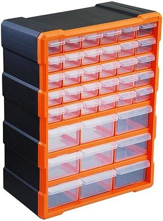 39 cajón Caja de Almacenamiento para piezas de cajón Organizador de bricolaje Cajas de gabinete Caja Caja de herramientas Hardware de fijación Tuercas de tornillo Pernos Clavos: Amazon.es: Hogar
