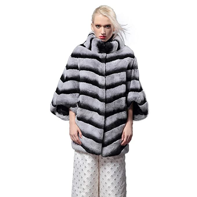 Fur Story 14173 Mujer Largo Real Piel de Conejo Rex Abrigo: Amazon.es: Ropa y accesorios