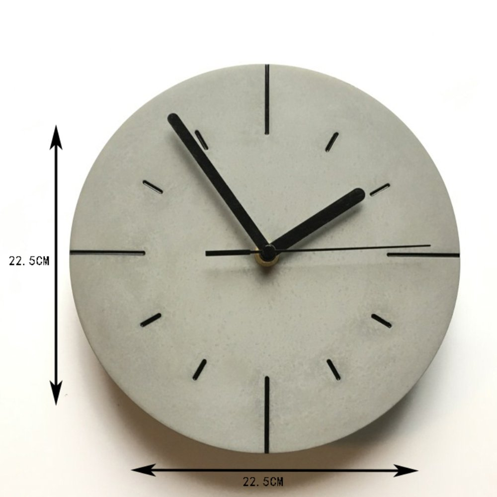 Amazon.com: Qiao Creative Cement Wall Clock Personality Nordic Style Living Room Bedroom Mute Decorative Wall Clock,Black: Home & Kitchen