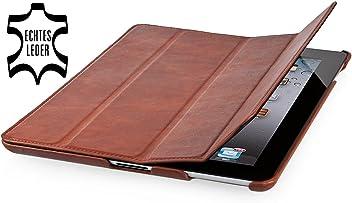 StilGut Couverture, Custodia in Vera Pelle per Il Apple iPad 3 & iPad 4 con Funzione di Supporto e Smart Cover