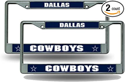 Dallas Cowboys NFL Rico Industries  Standard Chrome License Plate Frame