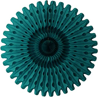 product image for 3-Pack 26 Inch Extra-Large Honeycomb Tissue Paper Party Fan Decoration (Teal Green)