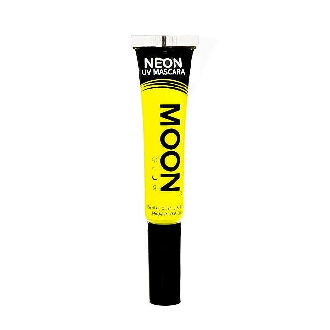 Máscara de pestañas amarillo neón fluorescente moon glow