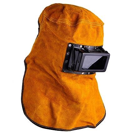 Solar Auto Darkening Filter Lens Welder Leather Hood Welding Helmet Mask New - - Amazon.com
