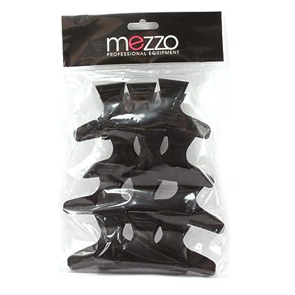 Mezzo: pinzas de cocodrilo para el pelo, negras, modelo grande, 12 unidades