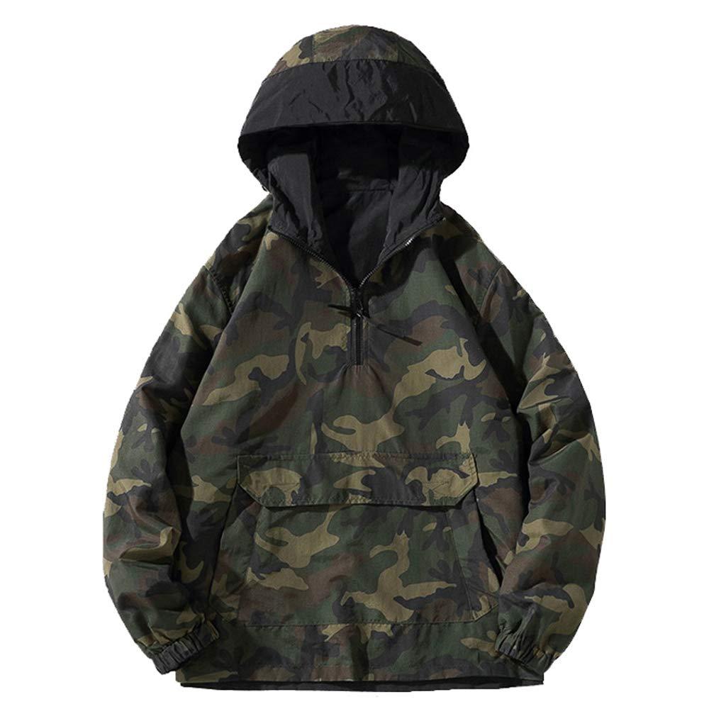 grand ZYMNL-YY Un imperméable imperméable pour Hommes Femmes d'extérieur Convient à Une Veste à Capuche de Camouflage pour Le Tourisme, Une randonnée en Camping