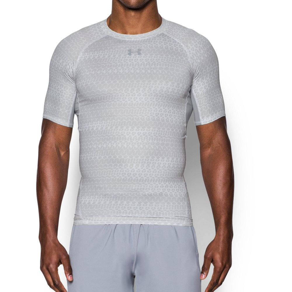 fc9b32a205d Galleon - Under Armour Men s HeatGear Armour Printed Short Sleeve  Compression Shirt