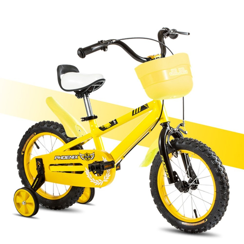 XQ TL-117黄色の子供の自転車3-13歳の少年少女高炭素鋼の子供の自転車 子ども用自転車 ( サイズ さいず : Length-125cm ) B07C3PM51Z Length-125cm Length-125cm