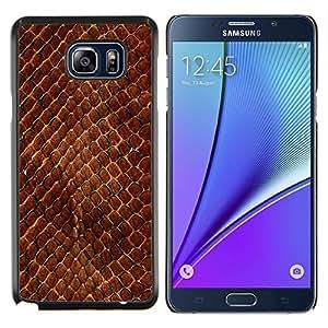 Queen Pattern - FOR Samsung Note 5 N9200 N920 - snake skin pattern brown scales reptile art - Cubierta del caso de impacto con el patr???¡¯???€????€??&sbquo