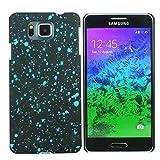 Heartly Night Sky Glitter Star 3D Printed Design Retro Color Armor Hard Bumper Back Case Cover For Samsung Galaxy Alpha 4G SM-G850FQ - Light Blue
