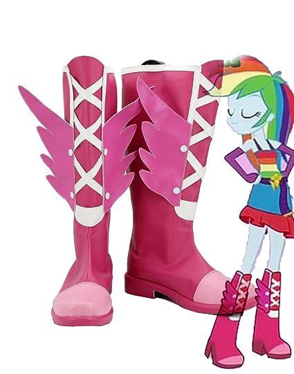 My Little Pony Equestria Girls Rainbow Rocks Rainbow Dash Cosplay Shoes Boots Custom Made Red