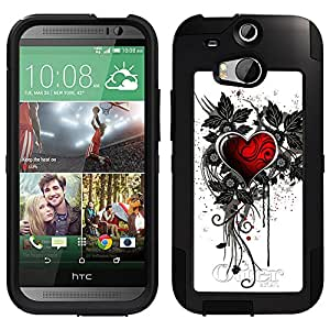 Skin Decal for Otterbox Commuter HTC One M8 Case - Sacred Heart Design