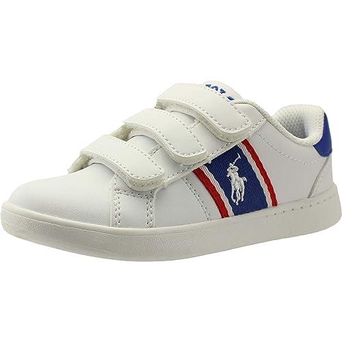 Polo Ralph Lauren Quigley EZ Blanco/Real/Rojo Suave Júnior Zapatillas De Deporte Zapatos: Amazon.es: Zapatos y complementos