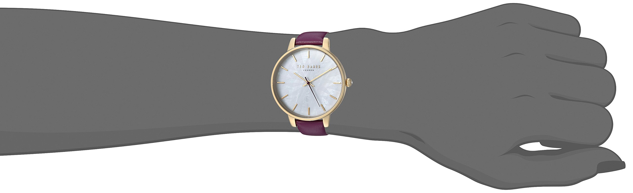 Ted Baker Women's Quartz Stainless Steel and Leather Casual Watch, Color:Purple (Model: TE15200002) by Ted Baker (Image #2)