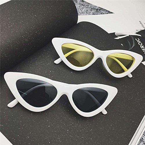 Sunyan Red Net Segel mit Brillen Sonnenbrillen mode Sonnenbrille Frauen hip hop Dreieck - coole Sonnenbrille Trendsetter, weiß gerahmten schwarz grau