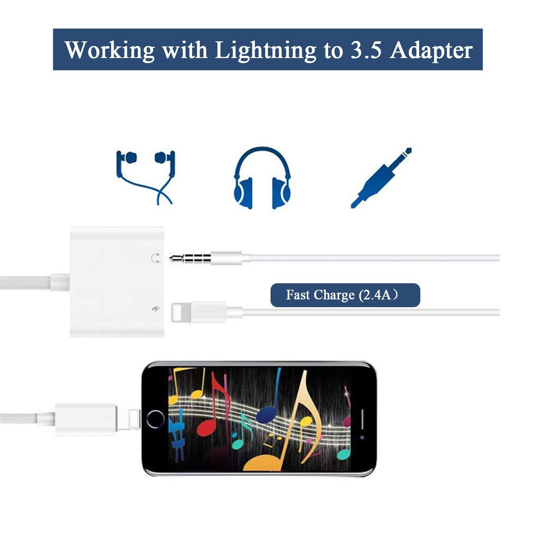 BENEWY AUX Audio Adapter Splitter Dongle Music Audio BENEWY AUX Accessorie Headphone Adapter Headset Audio Adaptor Connector Earphone WLG1071