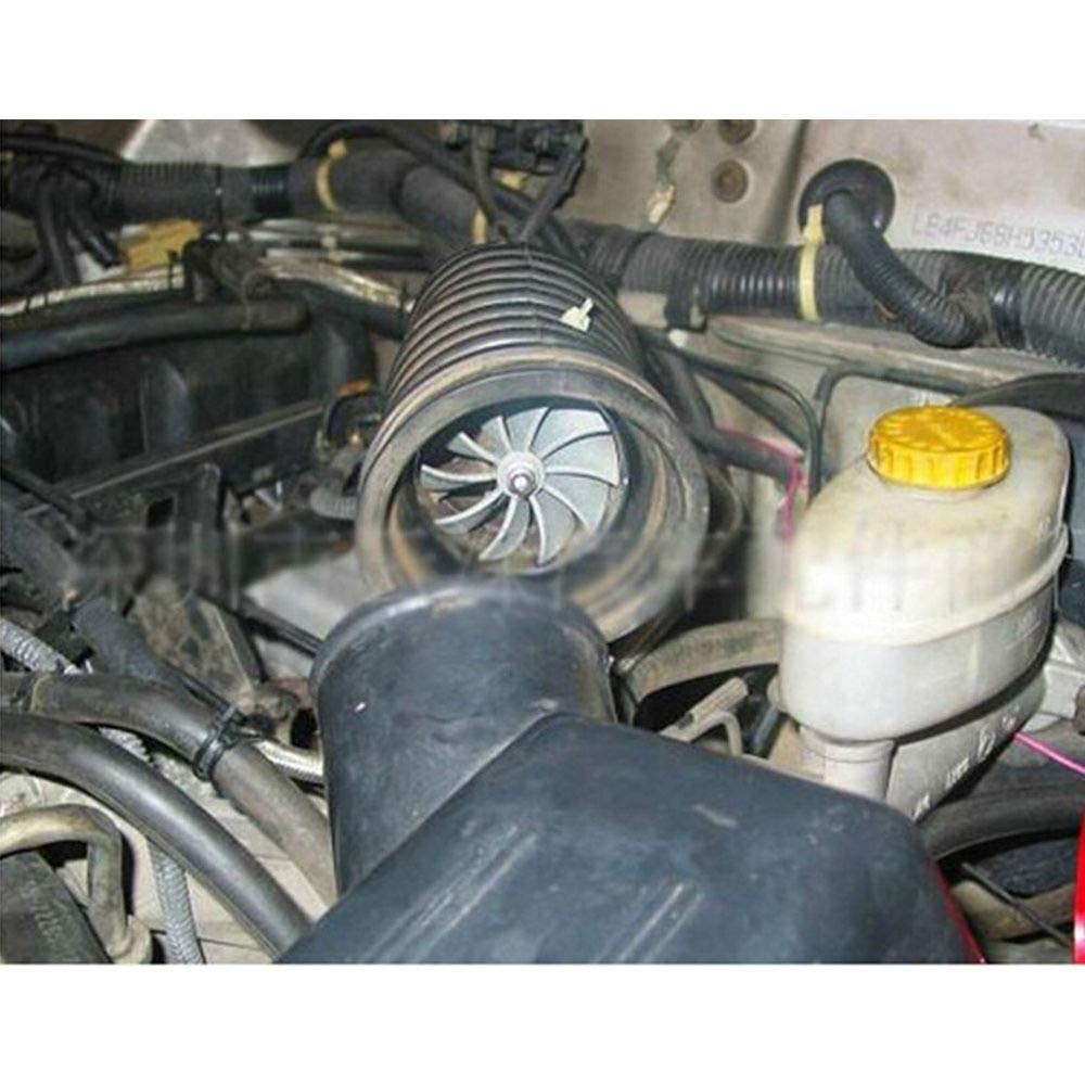 Supercharger Power - Turbonador de aire de doble ventilador, turbina, gas, ahorro de combustible turbo: Amazon.es: Coche y moto
