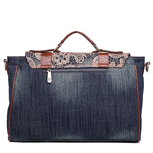 Car Retro Bag Lace Shoulder Denim Wind XzwYztPq