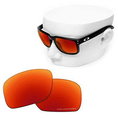 3d21607a8c OOWLIT Replacement Sunglass Lenses for Oakley Holbrook POLARIZED (Fire Red