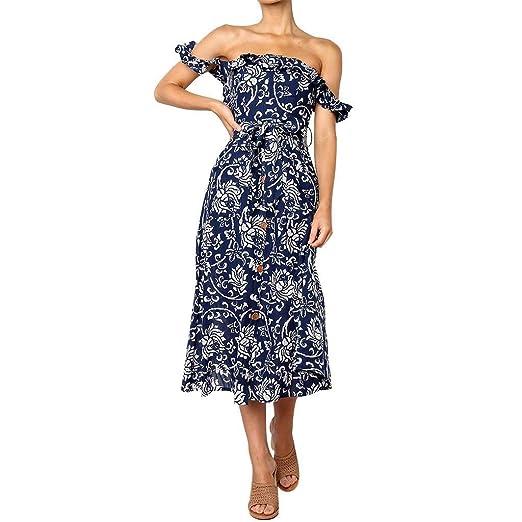 Go First Vestido De Moda De Verano para Mujer Vestido Sexy con ...
