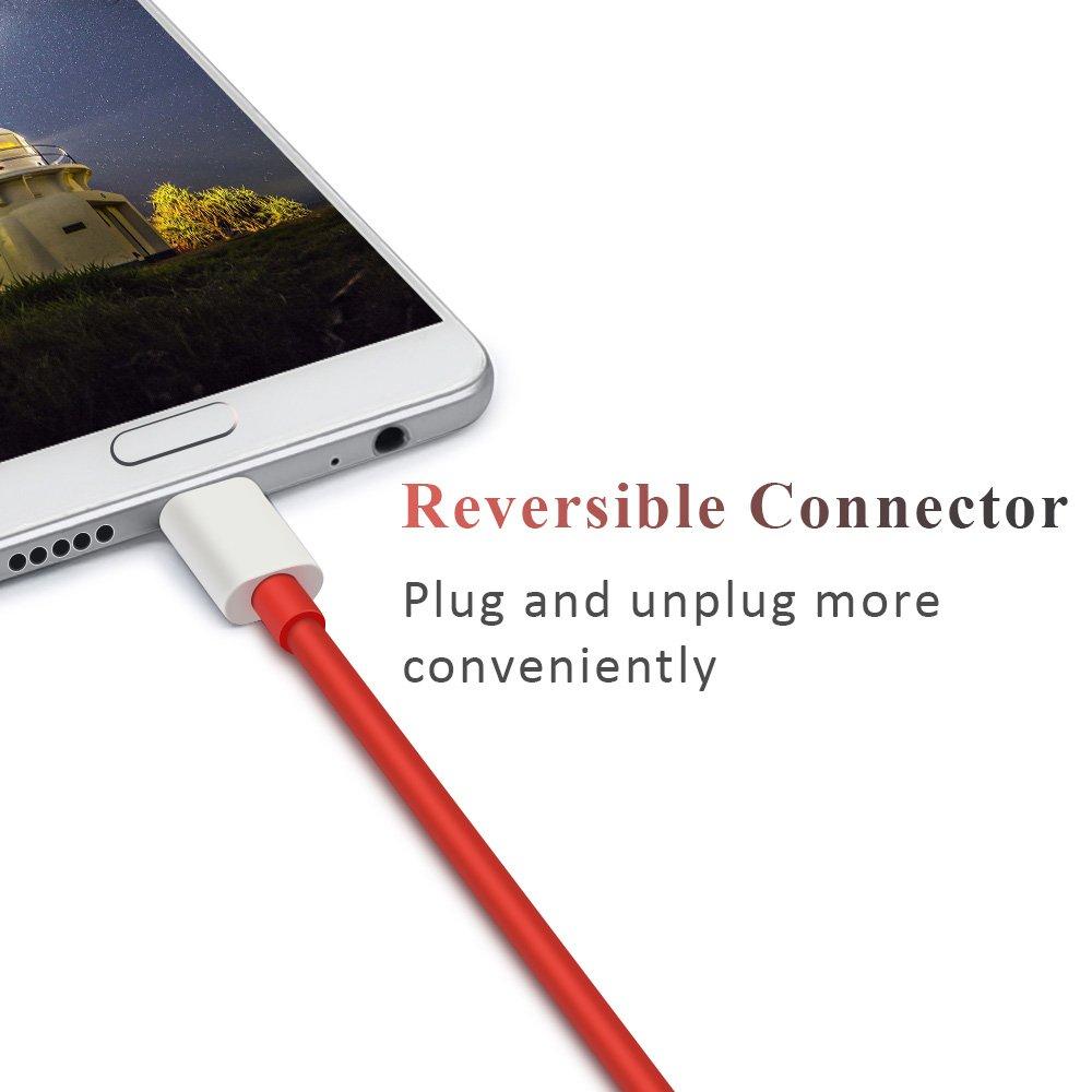 ACOCOBUY Oneplus Dash Tipo C Cable 1m,Dash Carga Cable USB C Cable De Carga De Alta Velocidad de sincronización de Datos USB C Cable para Oneplus ...