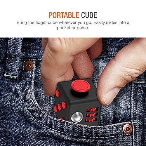 Trianium Fidget Cube Anti-Stress/Anti-anxiety and Depression Ball Toys for Children, Teens, Student and Adults [Easy Carrying] Active Dice Stress Reliever for Work, School, Class (TM000121)