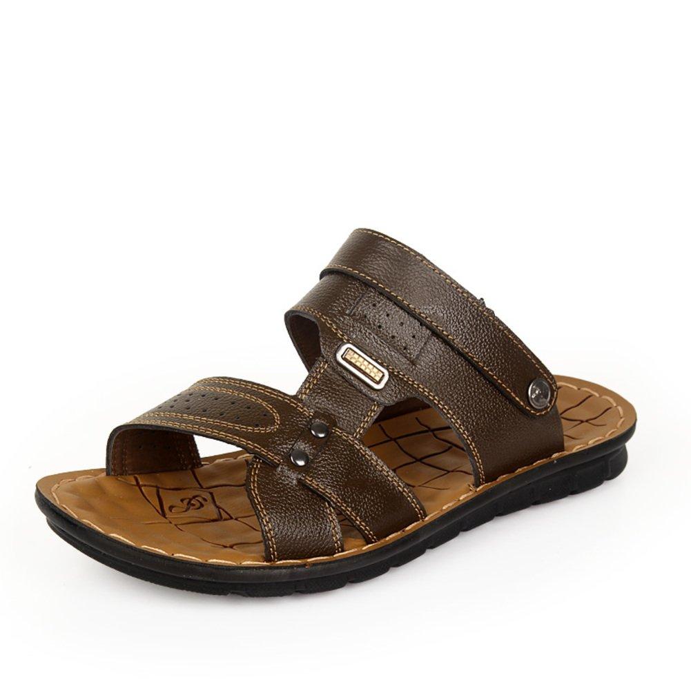 Ojotas verano hombres/Sandalia de la correa/zapatos casuales/Deslizador de los hombres al aire libre playa doble Longitud del pie=24.8CM(9.8Inch) B