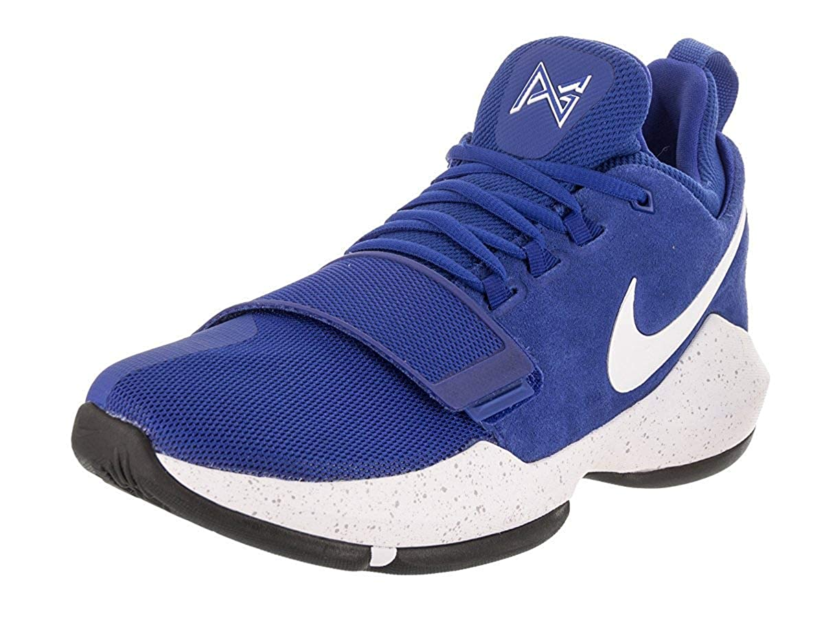 28c36bcc66d0b Nike Mens Pg1 Low Top Lace Up Fashion Sneakers, Blue, Size 12.0