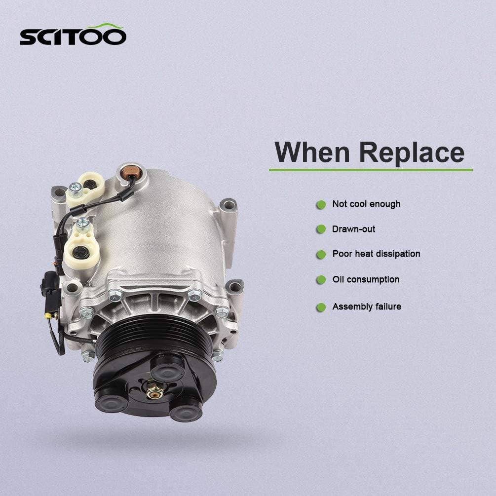 SCITOO AC compressor Compatible with Endeavor Galant 3.8L Mitsubishi Eclipse 2.4L 2006-2012