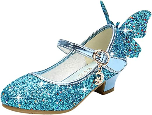 Kids Toddler Infant Baby Girls Crystal Leather Single Shoes Party Princess Shoes