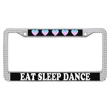 Amazon.com: Dasokao Auto Car License Plate Frames - EAT SLEEP DANCE ...