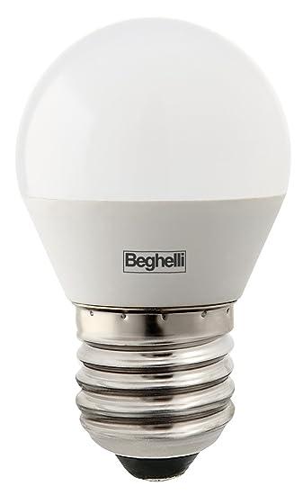 LAMPADA 10PZ BEGHELLI LED 56990 SFERA E27 W5 CALDA 3000K LAMPADINA:  Amazon.it: Illuminazione