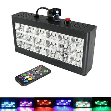 Amazon.com: Strobe Lights, AZIMOM 18 LED Stage Light for ... on