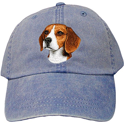 Cherrybrook Dog Breed Embroidered Adams Cotton Twill Caps - Royal Blue - (German Shepherd Hat)