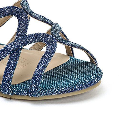 con amp;Scarpe Bassi Blue Sandali in Cinturini Scarpe Lurex by Prendimi wTvXqxTR
